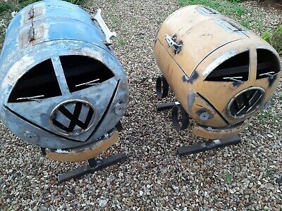 UPCYCLED 'Rat Look' VW BBQ/WOOD BURNER
