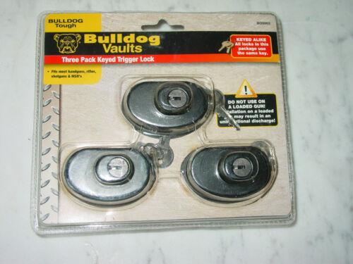 Bull Dog Cases Bulldog Vault Keyed Trigger Lock 3 Pack Black BD8003