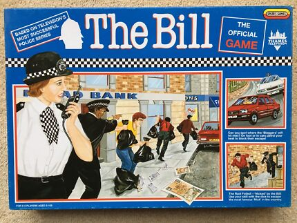 """""""The Bill"""" Thames television game by Spear's games"""