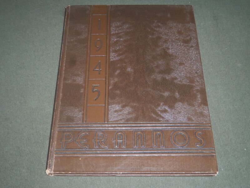 1945 PERANNOS NEW CANAAN HIGH SCHOOL YEARBOOK - CONNECTICUT - YB 956