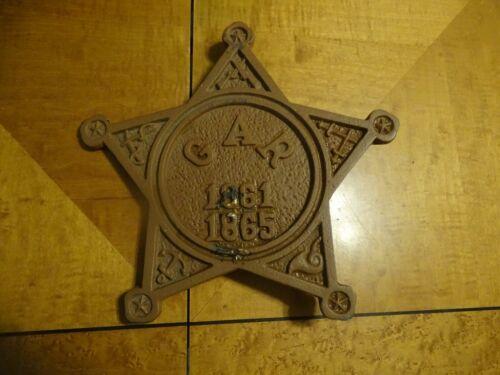 Antique GAR 1861-1865 Grave Marker/Flag Holder