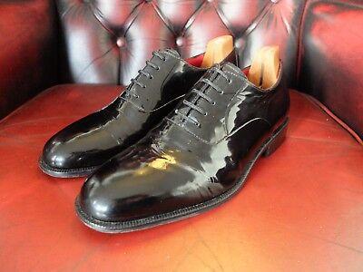 M&S Collezione Black Patent Leather Oxford Tuxedo Shoes Size 7(UK) 40.5 (EU) for sale  Shipping to Nigeria