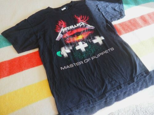 METALLICA Master of PUPPETS Graveyard Album METAL Tee T-Shirt Band Mens Large