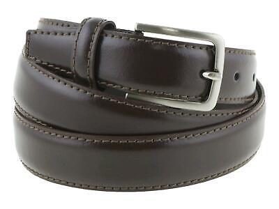 Cintura Cinta Uomo Marrone semi lucida in Vera Pelle Classica Accorciabile