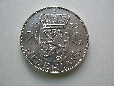 Hollande-2 1/2 gulden -argent 1959-TTB+