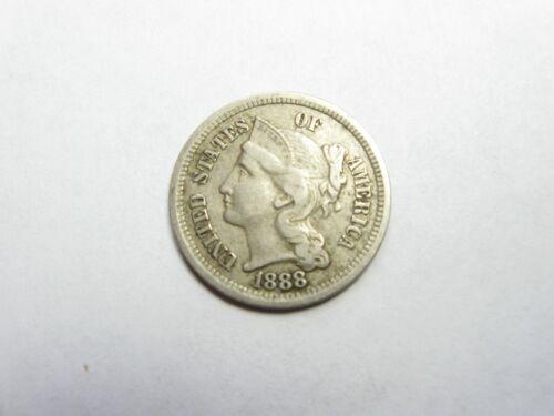 1888 Nickel 3 c Cent Piece - #5855