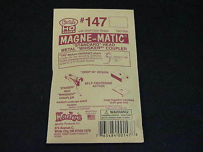 Kadee HO Scale Metal Knuckle Couplers - #147 Medium Underset Whisker (2 pr)