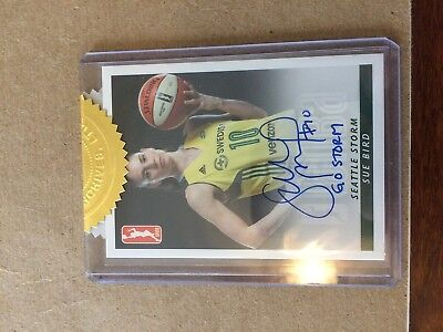 2017 WNBA Autograph Sue Bird Posed in Uniform  You Pick the Inscription