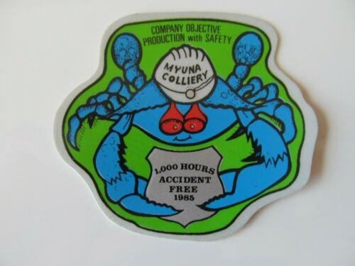 Coal Mining Stickers,  Myuna Colliery