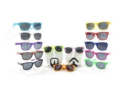 10 X Schwarz Objektiv Classic Vintage 80er Sonnenbrille! Kostüm Sommer - Kostüm Objektive