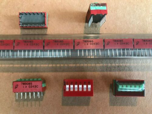 GRAYHILL # 78B06S  6 POSITION DIP SWITCHES, SPST, NEW 15 PIECE TUBE