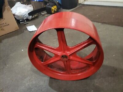 Mccormick Deering Farmall F20 Tractor Original Flat Belt Pulley Ihc Part Spoke