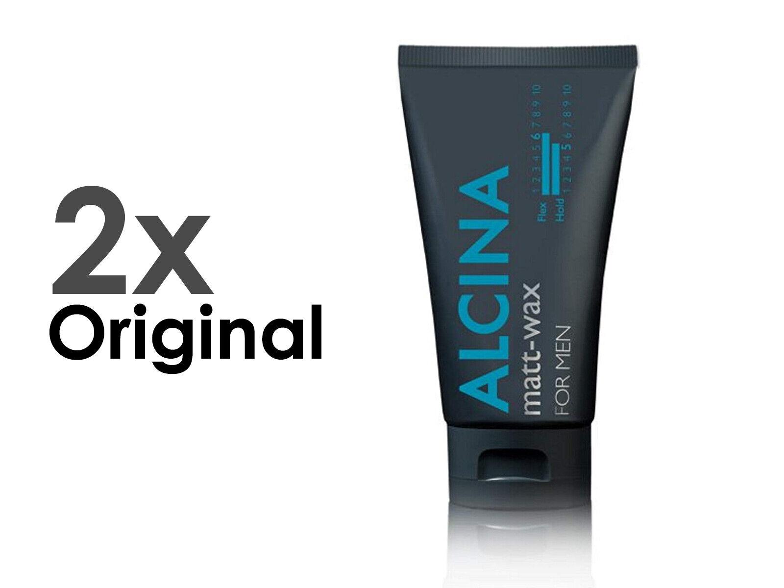 Alcina Premium Haar Styling Wax/Wachs For Men matt-wax 2x75ml