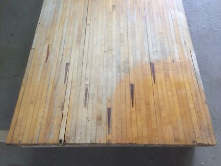 Vintage industrial timber bowling lanes Castlemaine Mount Alexander Area Preview