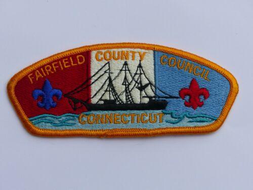 Fairfield County Council Connecticut Boy Scout CSP Council Shoulder Patch Ship
