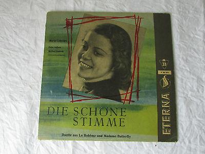 """MARIA CEBOTARI - Die schöne Stimme, La Beheme, Madam Butterfly 10"""" LP Eterna (72"""