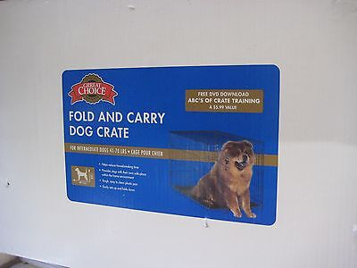 METAL FOLD AND CARRY DOG CRATE, FOR INTERMEDIATE DOGS 41-70 LBS, CAGE POUR CHIEN