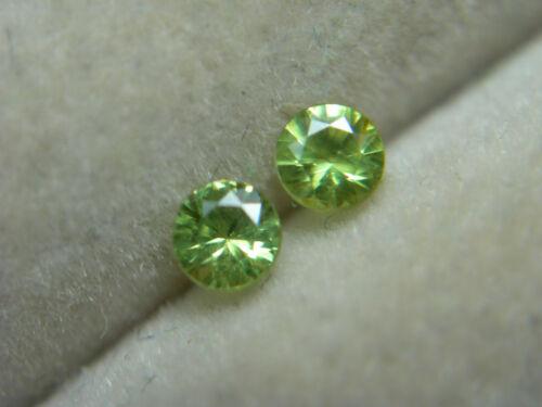 2 rare Russian Demantoid Garnet gems HORSETAIL Natural Russia accent pair rd14