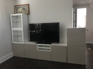 Ikea Besta TV storage combination and Samsung TV