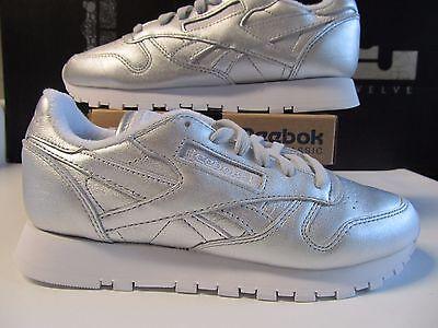 Wmn Reebok FACE STOCKHOLM Classic Leather CL Lthr Spirit Silver White 5.5 V62700