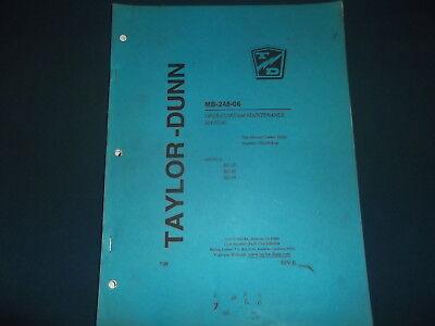 Taylor-dunn B2-38 B2-48 B2-54 Forklift Operation Maintenance Manual Book