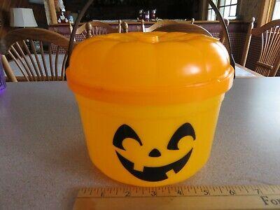 Vintage 1986 McDonalds Orange Pumpkin Trick or Treat Pail Bucket Halloween Toy