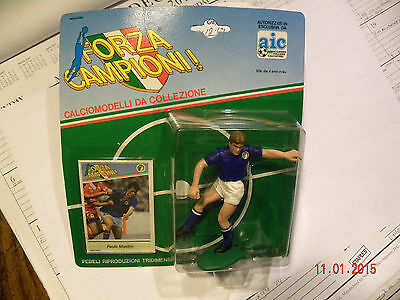 SEALED FORZA CAMPIONI Action Figure Card PAOLO MALDINI Italy National Kenner