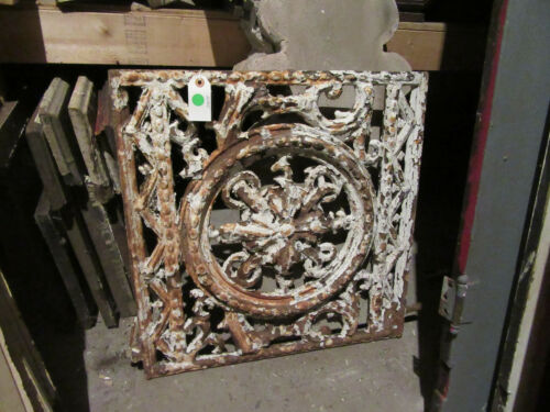 ~ ANTIQUE CAST IRON WINDOW GATE VERY FANCY ~ 22 X 22 ~ ARCHITECTURAL SALVAGE ~