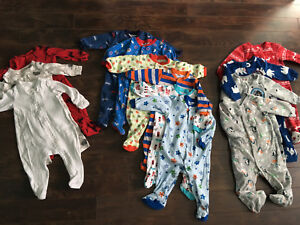 Baby Boy Sleepers 3-6 month