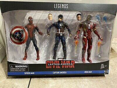 Marvel Legends Civil War Captain America Iron Man Spider-man Figure 3 Pack