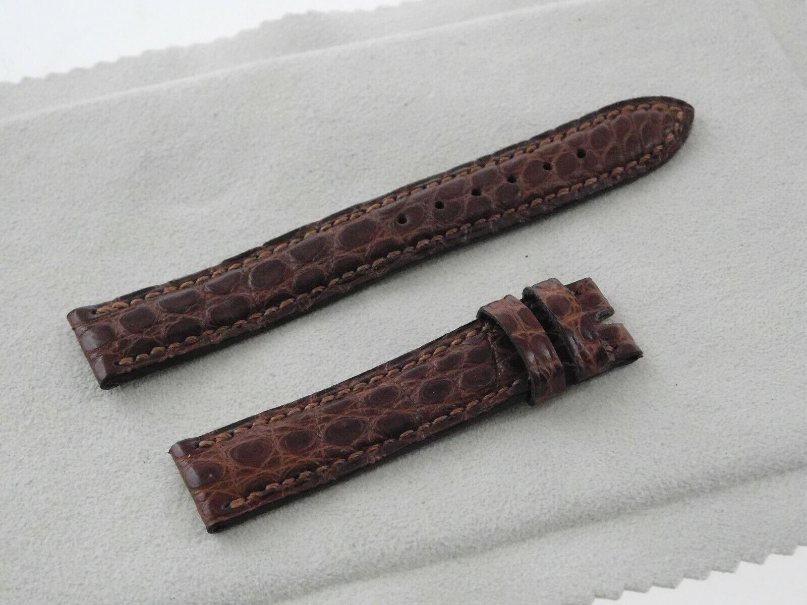 Ungetragen Original BULGARI / BVLGARI Louisiana Kroko Armband 14 mm
