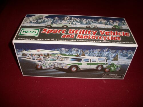 2004 HESS TRUCK SPORT UTILITY VEHICLE and MOTORCYCLES ,MINT
