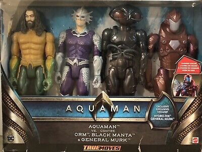 Mattel Aquaman vs ORM, Black Manta, General Murk 4 Piece Action Figure Set NEW