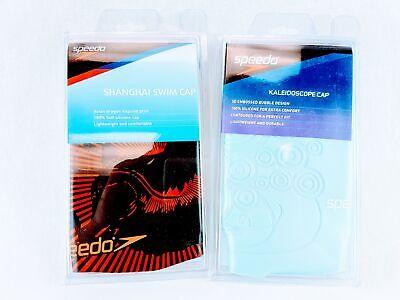 Speedo Solid Silicone Swim Cap - Choose Design Speedo Silicone Cap