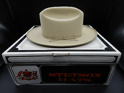 4x beaver vintage STETSON open road Silver Belly western hat cowboy fedora 6&7/8