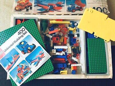 Vintage 1977 Lego #400 Universal Building Basic Set: 100% Comp w/Instruction Box