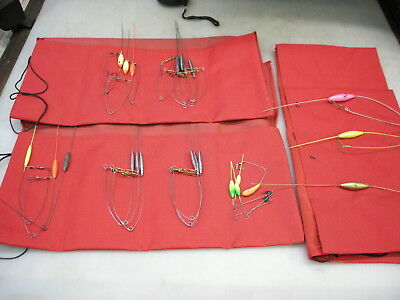 Assortment of bottom bouncers / bait walkers with storage pouches. 1/2 to 2-1/2o (Bottom Walkers Lure)