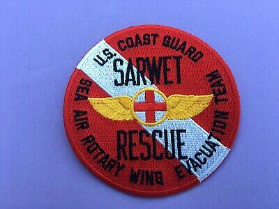 US COAST GUARD SARWET RESCUE PATCH MEASURES 4 INCHES (Coast Guard Rescue)