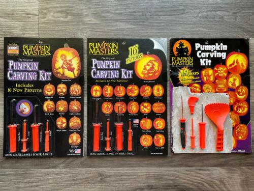 NEW! 3 Pumpkin Masters Vintage Halloween Pumpkin Carving Kits