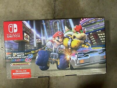 New Seal Nintendo Switch Game Console Neon Blue/Red+Mario Kart 8 Deluxe+3 Month