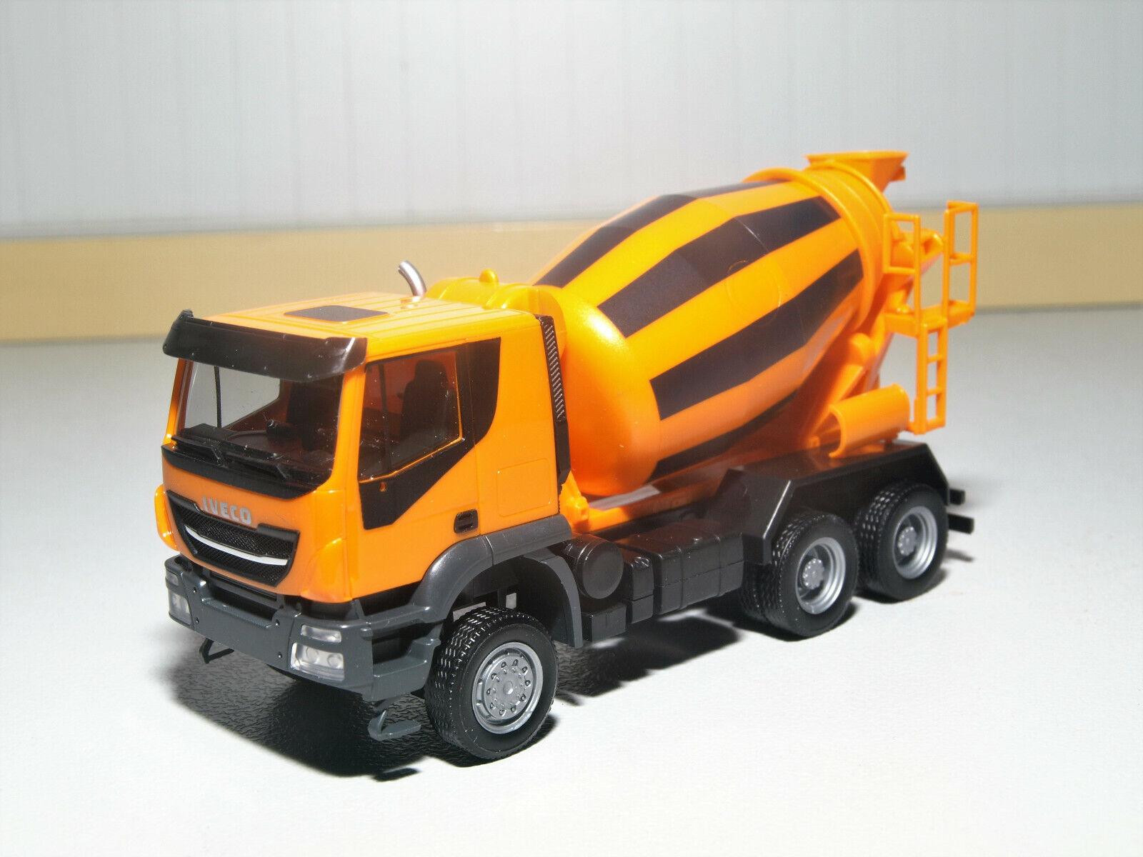 Herpa Iveco Trakker 6x6 Betonmischer-LKW, orange 310000