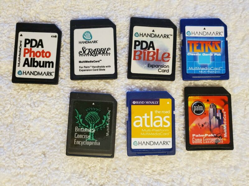 Handmark PDA Palm Game Software Lot Of 7 Tetris Scrabble Atlas