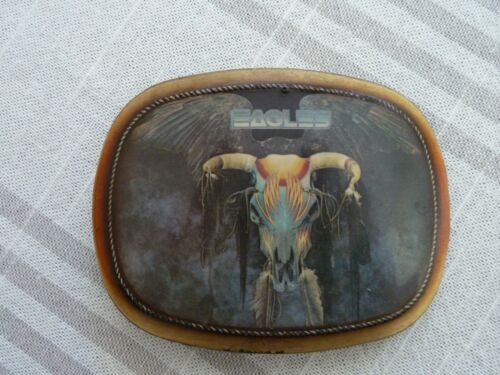 """Vintage """"EAGLES"""" Rock Band - Pacifica BELT BUCKLE - """"One Of These Nights"""""""