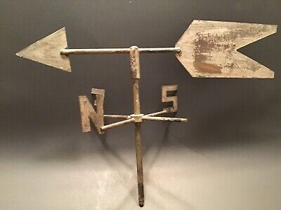 Vintage Brass Weathervane parts patina directional arrow North South East Only
