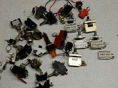 Huge Lot Of Push Button And Toggle Micro Switches 2 Md3 1aau