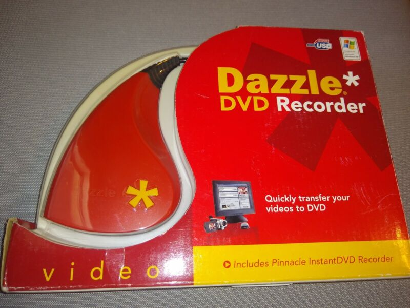 Pinnacle Dazzle DVD Recorder Transfer VHS to DVD. New in Open Box