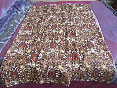 Pair Vintage Retro Pat Albeck Daisy Chain Lined Curtains / Fabric