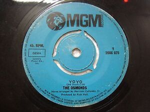 THE-OSMONDS-2006-075-BLUE-RARE-SINGLE-7-034-45-RPM-INDIA-INDIAN-VG