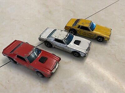 Lot Of 3 Vintage Original Hot Wheels Blackwall 1 Monte Carlo & 2 Torino Stockers