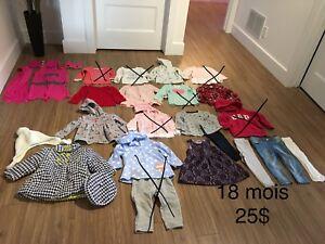 Vêtements 18 mois fille